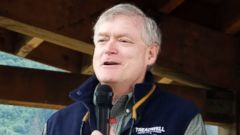 PHOTO: In this June 21, 2014, file photo, Republican U.S. Senate hopeful Mead Treadwell speaks at Gold Rush Days in Douglas, Alaska.