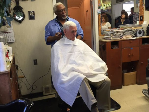 Pence Stops for Haircut From Barber Who Doesn't Recognize Him