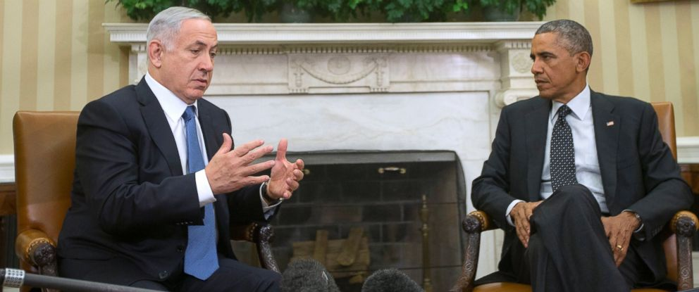 PHOTO: President Barack Obama meets with Israeli Prime Minister Benjamin Netanyahu in the Oval Office of the White House in Washington in this Oct. 1, 2014 file photo.