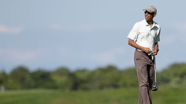 AP Obama Golfing emd 20140818 16x9 608 President Obamas Vacation by The Numbers