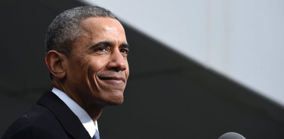 PHOTO: President Barack Obama pauses while speaking at the dedication of the Edward M. Kennedy Institute for the United States Senate, March 30, 2015, in Boston.