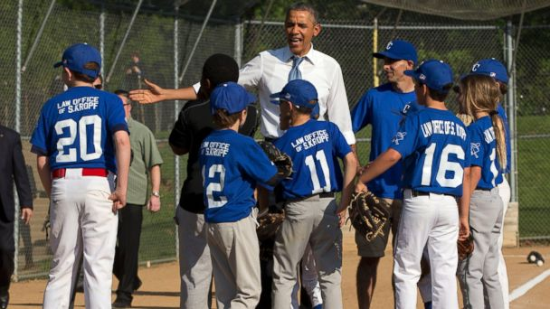 Obama Makes Surprise Stop at Little League Game