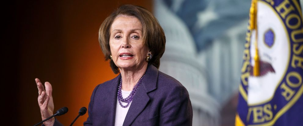 PHOTO: House Minority Leader Nancy Pelosi of Calif., speaks with reporters on Capitol Hill in Washington, Dec. 5, 2014.