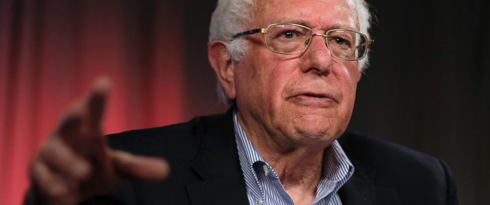 PHOTO: Democratic presidential candidate Sen. Bernie Sanders, speaks during an interview with The Associated Press, May 23, 2016, in Los Angeles.