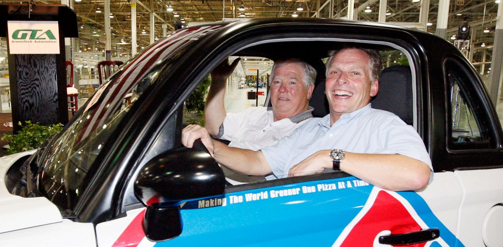 PHOTO: GreenTech Automotive chairman Terry McAuliffe
