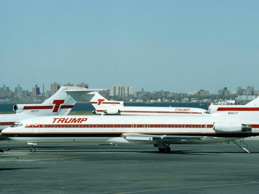 PHOTO: In this file photo, Trump Shuttle is seen at LaGuardia Airport, March 8, 1991, in New York.