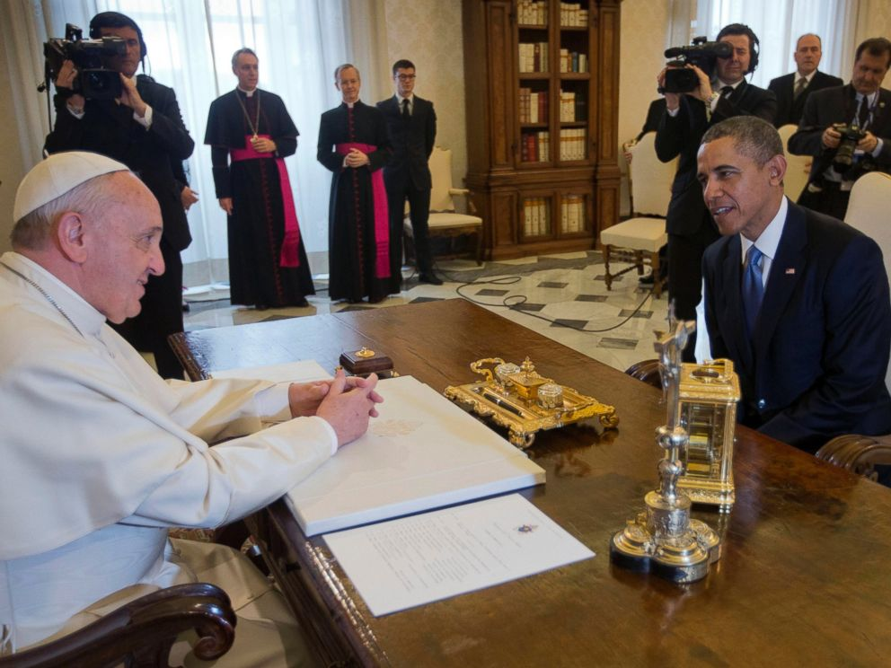 PHOTO: U.S. President Barack Obama meets with Pope Francis, March 27, 2014 at the Vatican.