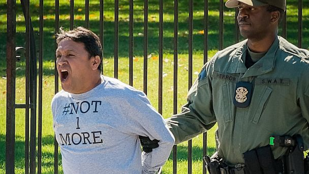 AP White House immigration nt 130918 16x9 608 Chained to White House Fence: Immigrants Protest Obama Deportations