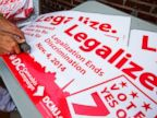 PHOTO: Adam Eidinger, chairman of the DC Cannabis Campaign, works on posters encouraging people to vote yes on DC Ballot Initiative 71 to legalize small amounts of marijuana for personal use, in Washington. in this, Oct. 9, 2014, file photo.