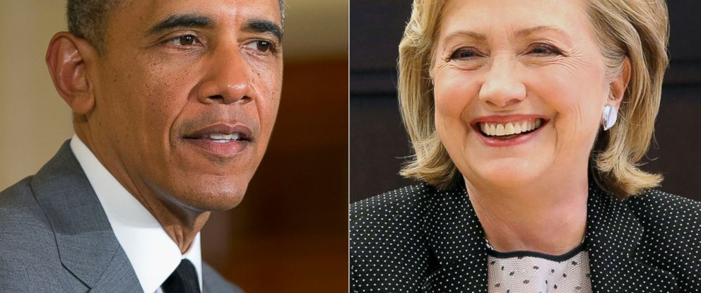 PHOTO: President Barack Obama in Washington, June 18, 2014. | Former Secretary of State Hillary Rodham Clinton in Los Angeles, Calif., June 19, 2014.