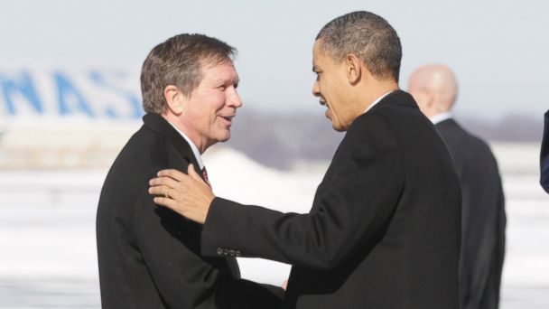 AP barack obama john kasich sr 140102 16x9 608 Ohio Tea Party Activist to Challenge Kasich Over Obamacare