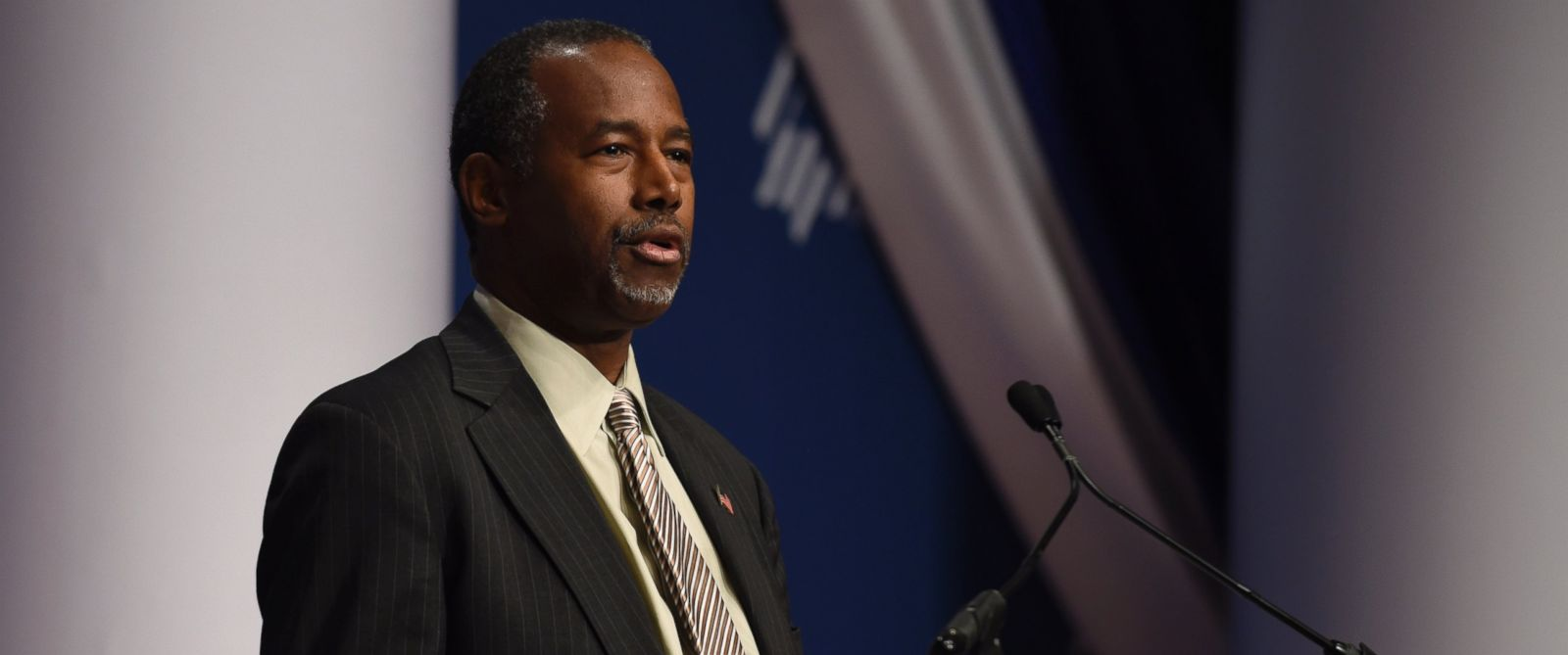 PHOTO: Republican presidential candidate Ben Carson speaks at the Republican Jewish Coalition Presidential Forum in Washington, Dec. 3, 2015.