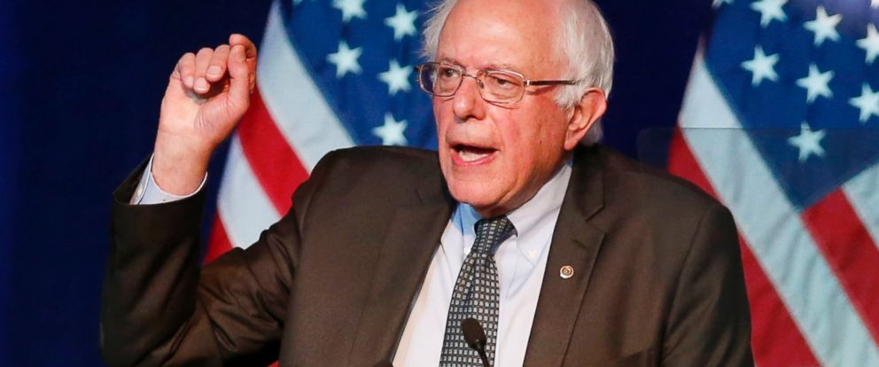 PHOTO: Democratic presidential candidate, Sen. Bernie Sanders, I-Vt, addresses the summer meeting of the Democratic National Committee, Aug. 28, 2015, in Minneapolis.