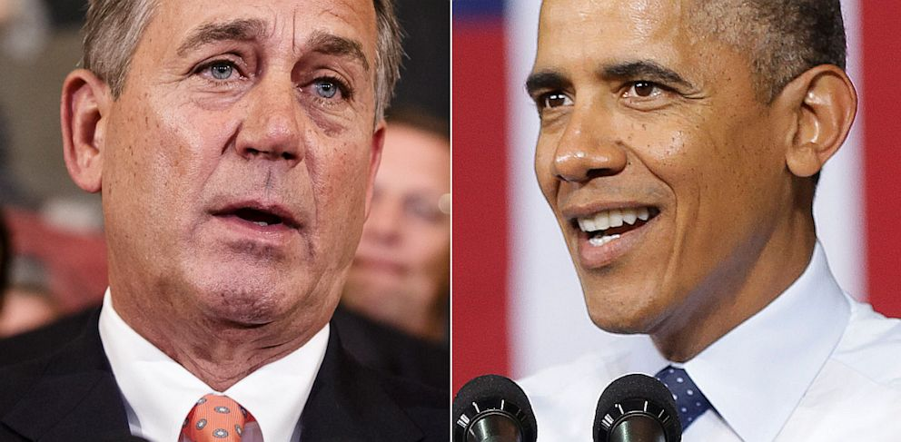 PHOTO: Speaker of the House John Boehner, R-Ohio and President Barack Obama, Sept. 20, 2013.