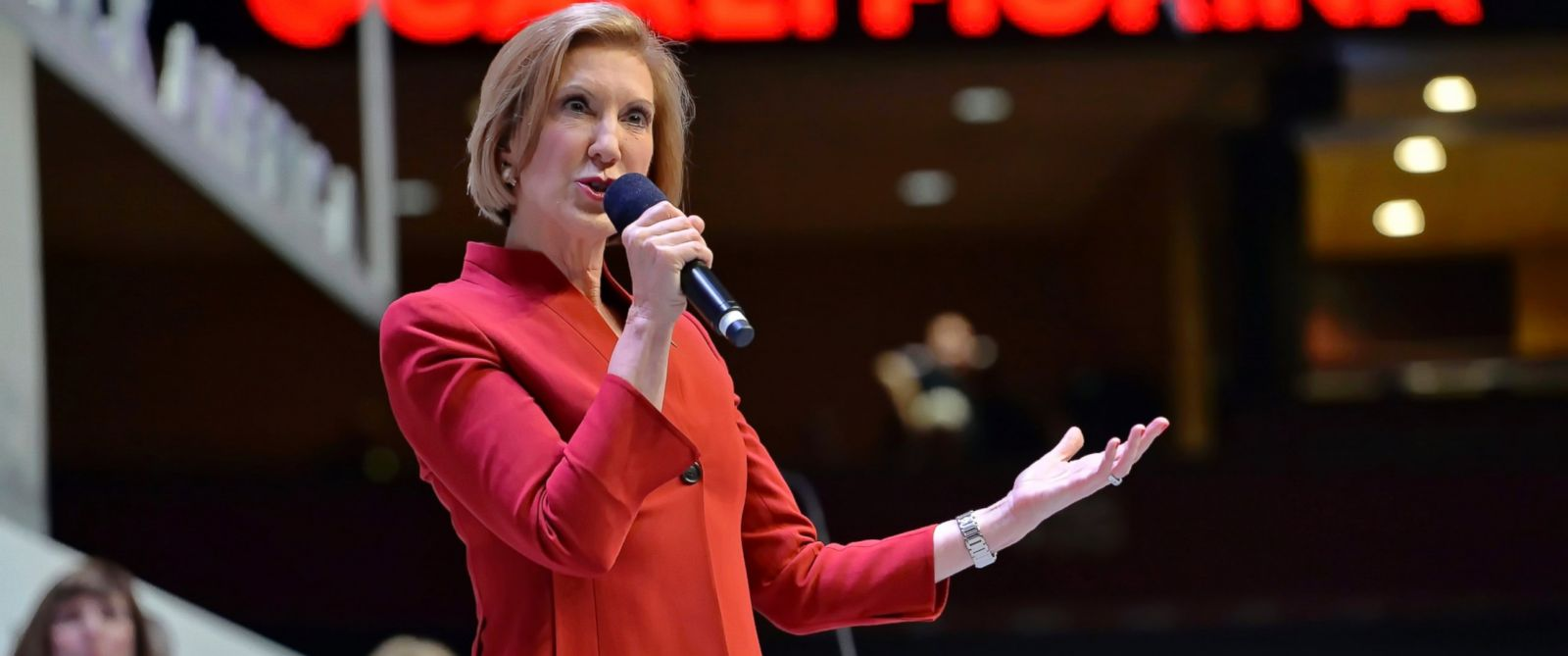 PHOTO: Republican presidential candidate Carly Fiorina speaks at a presidential forum sponsored by Heritage Action at the Bon Secours Wellness Arena, Sept. 18, 2015, in Greenville, S.C.
