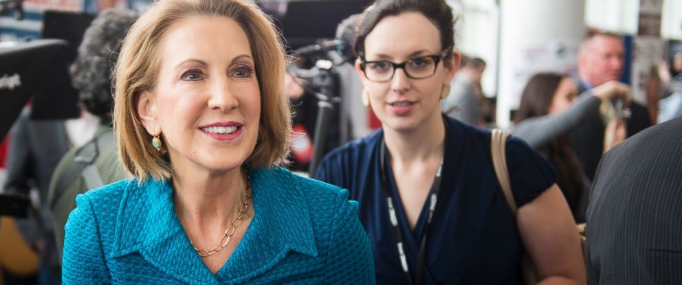 PHOTO: Carly Fiorina, former CEO of Hewlett-Packard, walks the hallway before her speech at CPAC in National Harbor, Md., on Feb. 26, 2015.