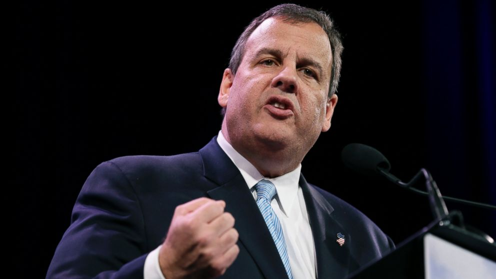 PHOTO: New Jersey Gov. Chris Christie speaks during the Freedom Sum