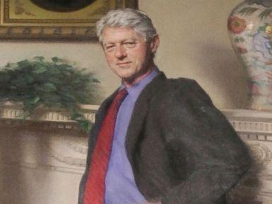 How Clinton's Portrait Secretly Incorporated Monica Lewinsky