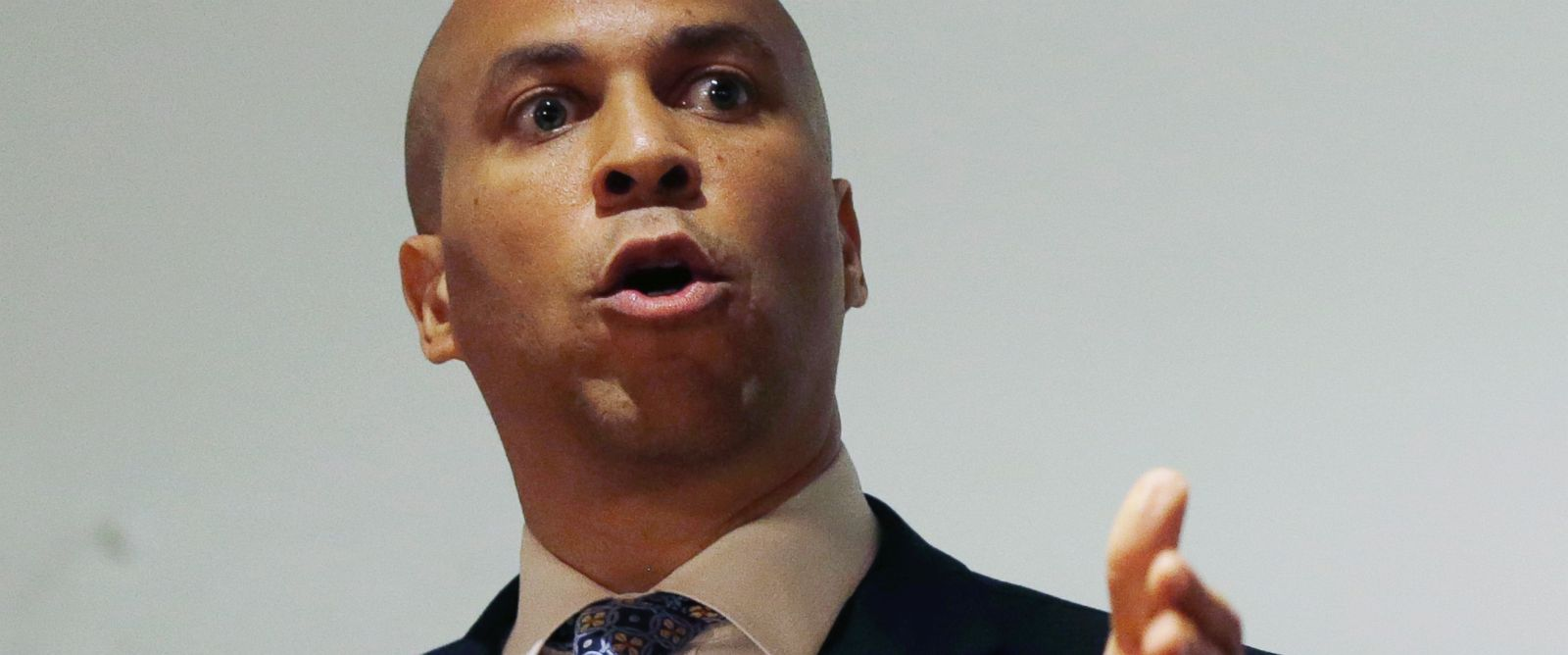 PHOTO: Cory Booker is pictured giving a speech in Deptford Township, N.J. on June 19, 2013.