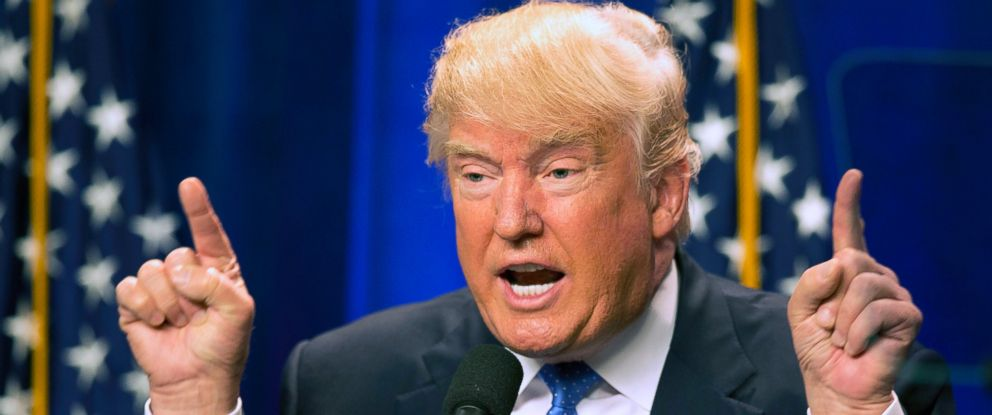 PHOTO: In this June 13, 2016, file photo, Republican presidential candidate Donald Trump speaks at Saint Anselm College in Manchester, N.H.
