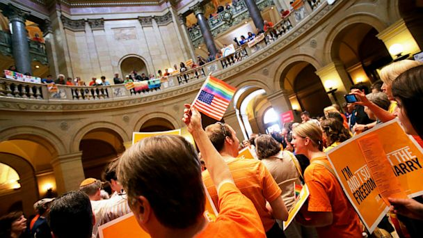 AP gay marriage minnesota nt 130513 16x9 608 Minnesota Senate Votes to Allow Same Sex Marriage