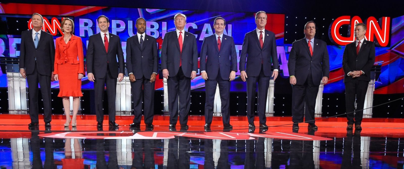 PHOTO: CNN Republican presidential debate at the Venetian Hotel & Casino, Dec. 15, 2015, in Las Vegas.