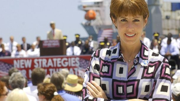 PHOTO: Gwen Graham poses for a photo during a Riviera Beach, Fla. campaign rally, June 1, 2004.