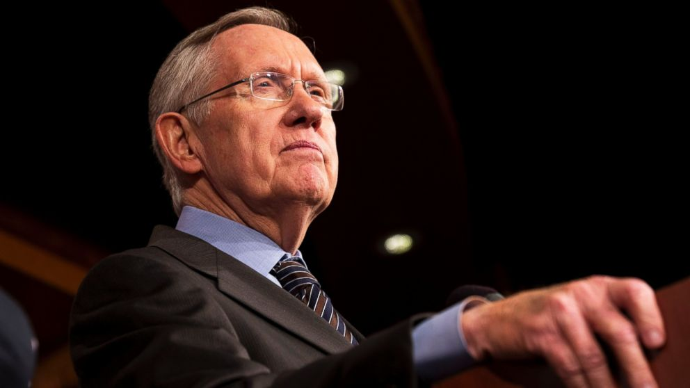 PHOTO: Senate Majority Leader Harry Reid of Nev. pauses during a news conference on Capitol Hill in Washington, Nov. 21, 2013.