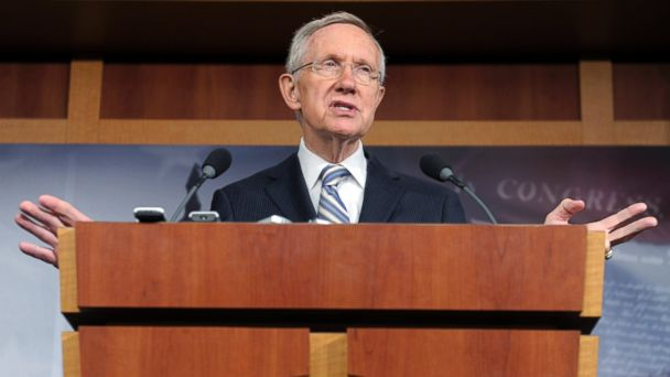 PHOTO: Senate Majority Leader Harry Reid gestures during a news conference on Capitol Hill in Washington, Nov. 7, 2012.