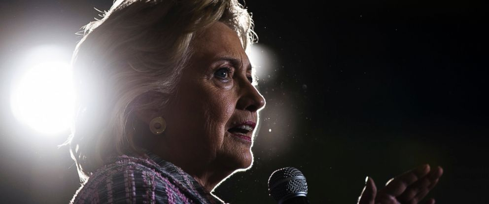 PHOTO: Hillary Clinton speaks during a campaign stop in Coral Springs, Florida, Sept. 30, 2016.