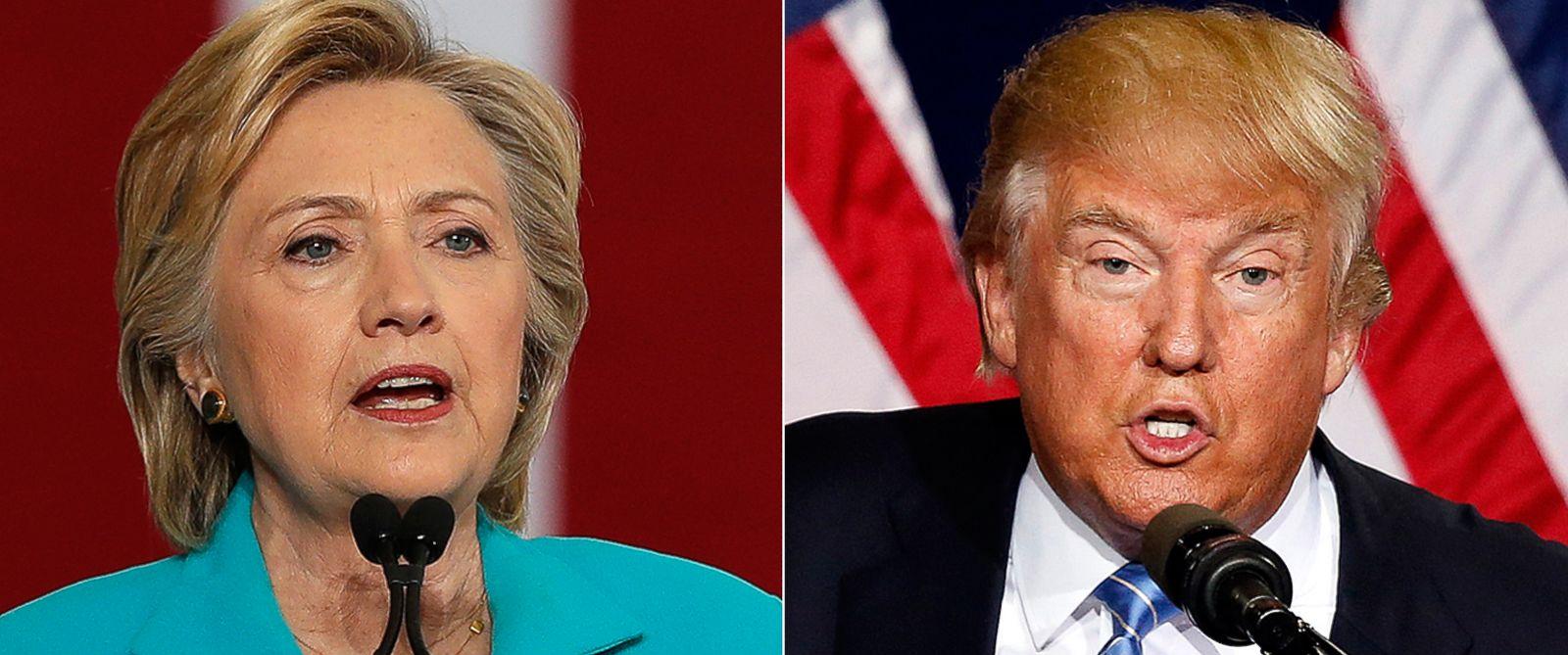 compare hillary clinton donald trump