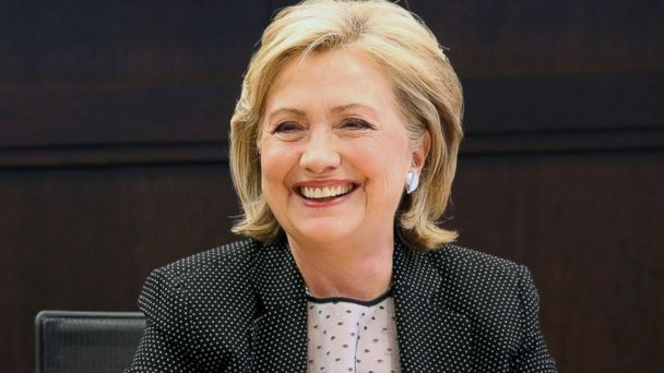 "PHOTO: Former Secretary of State Hillary Rodham Clinton smiles as she signs copies of her new book ""Hard Choices,"" at The Grove in Los Angeles, Calif., June 19, 2014."