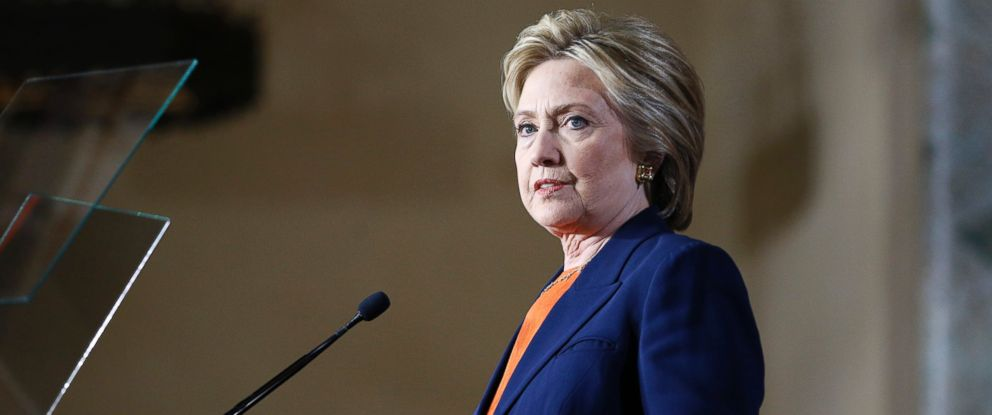 PHOTO: Democratic presidential candidate Hillary Clinton gives an address on national security, June 2, 2016, in San Diego, Calif.