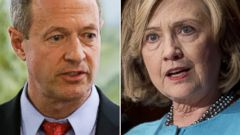 PHOTO: From left, former Maryland Gov. Martin OMalley and former Secretary of State Hillary Clinton