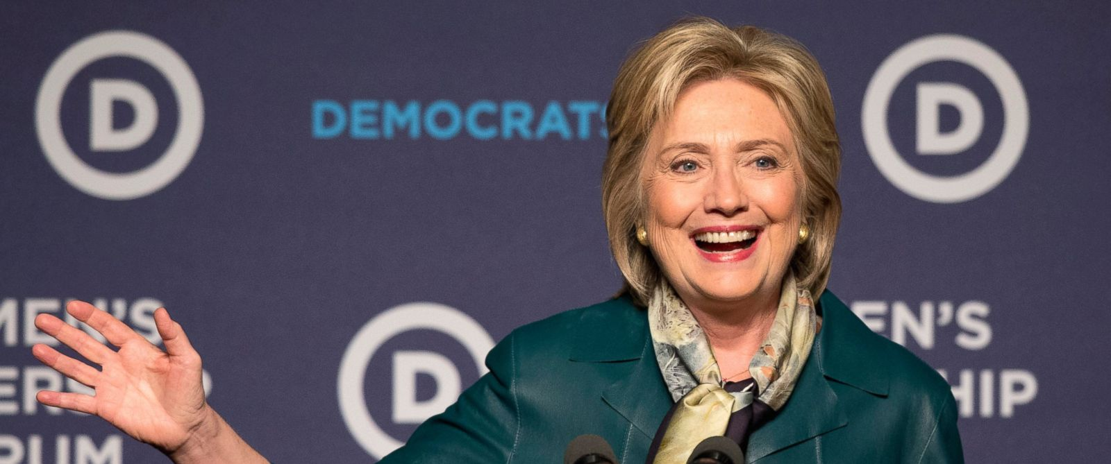 PHOTO: Democratic presidential candidate Hillary Clinton speaks to the Democratic National Committee 22nd Annual Womens Leadership Forum National Issues Conference in Washington, Oct. 23, 2015.