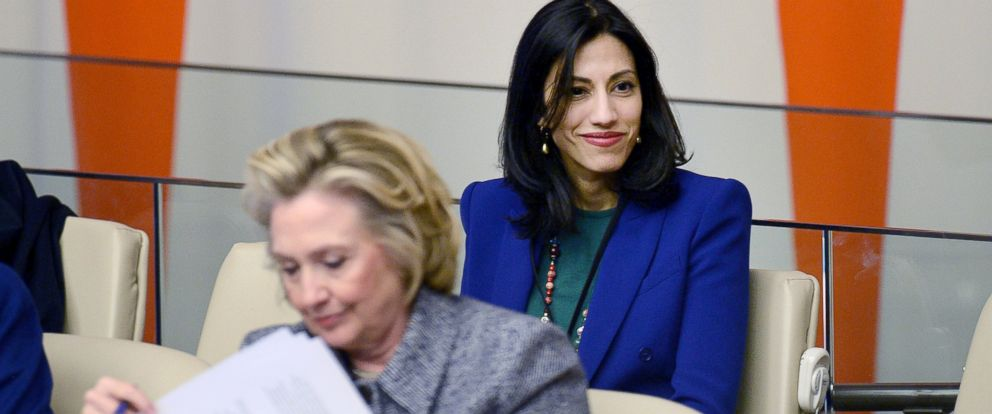 PHOTO: Huma Abedin aide to Hillary Clinton, foreground, attend the Womens Empowerment Principles event at the 59th Session of the Commission on the Status of Women at the United Nations headquarters in New York, NY, March 10, 2015.