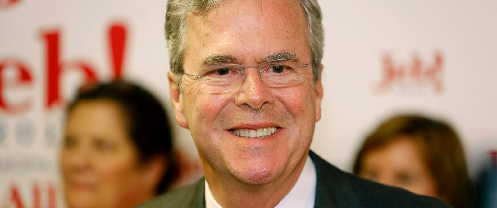 PHOTO: Republican presidential candidate former Florida Gov. Jeb Bush smiles during a press conference at the East Cooper Republican Womens Club Annual Shrimp Dinner at Alhambra Hall in Mt. Pleasant, S.C., Sept. 24, 2015.