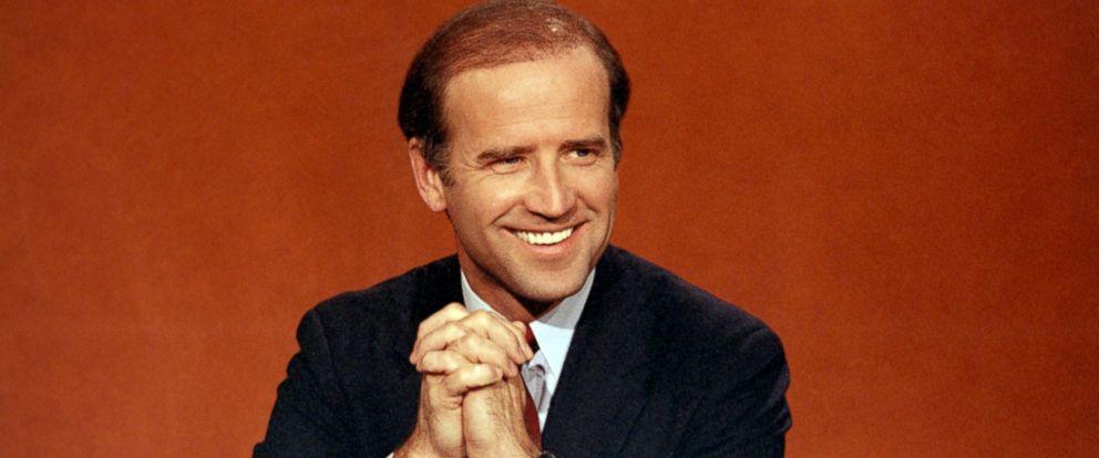 "PHOTO: Sen. Joe Biden is shown on NBCs ""Face the Nation,"" in Washington, April 29, 1984."
