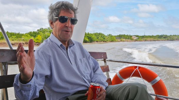 AP john kerry vietnam sr 131215 16x9 608 Kerry Returns to Vietnam Waterways on Climate Change Mission
