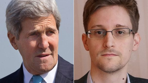 AP kerry Snowden tk 140528 v4x3 16x9 608 John Kerry Accuses Edward Snowden of Helping Terrorists, Endangering Lives