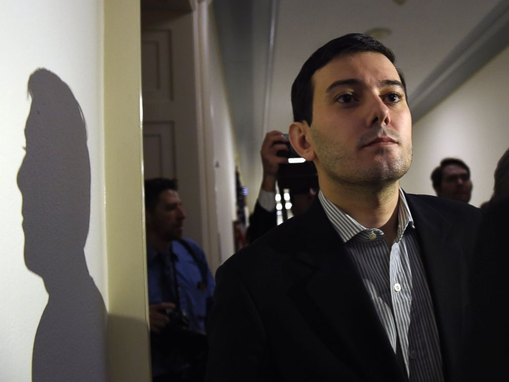 PHOTO: Pharmaceutical chief Martin Shkreli is followed by reporters on Capitol Hill in Washington, Feb. 4, 2016, following his appearance before the House Committee on Oversight and Reform Committee.