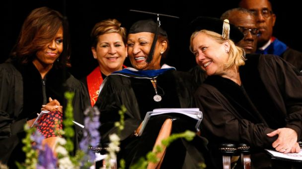 AP michelle obama commencement jtm 140514 16x9 608 Vulnerable Democrat Sen. Mary Landrieu Gets a Shout Out From First Lady