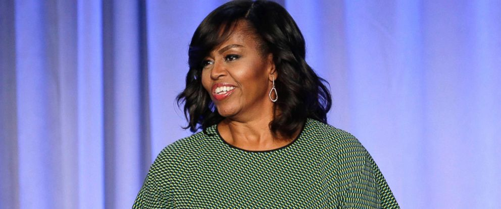 "PHOTO: First lady Michelle Obama participates in a panel entitled ""Media with Purpose"" at the American Magazine Media 360 Conference in New York, Feb. 2, 2016."