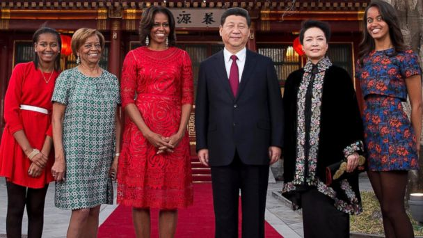 AP michelle obama xi jinping china sk 140321 16x9 608 In Surprise Meeting, Chinas President Greets Michelle Obama