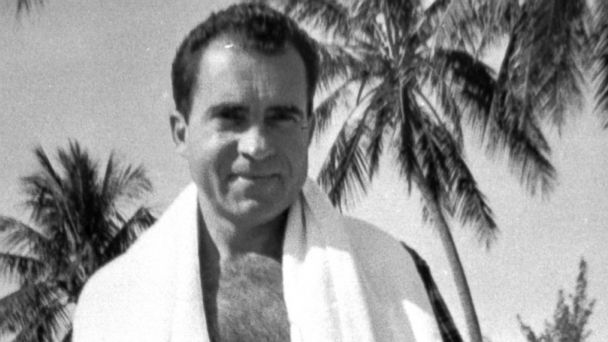 PHOTO: Then vice president Richard Nixon poses for a picture, Dec. 31, 1957, on holiday vacation, on Key Biscayne, Fla.