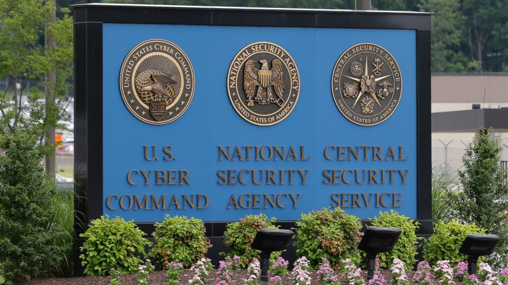 PHOTO: A sign stands outside the National Security Agency (NSA) campus in Fort Meade, Md., June 6, 2013.