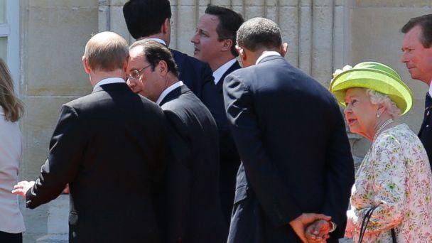 AP obama2 ml 140606 16x9 608 Obama and Putin Talk At D Day Celebration