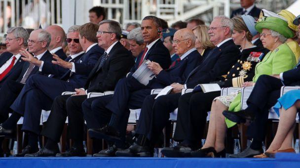 AP obama3 ml 140606 16x9 608 Obama and Putin Talk At D Day Celebration