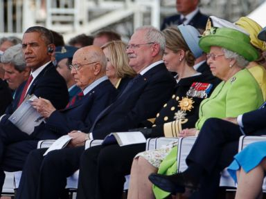 Obama and Putin Talk At D-Day Celebration