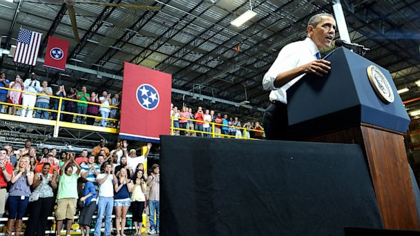AP obama amazon nt 130730 16x9 608 Obama Offers Republicans New Grand Bargain in Tennessee